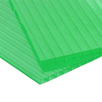 Сотовый поликарбонат, зеленый 4мм (2,1мх12)