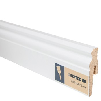 Плинтус Arbiton Loctike 101, МР0601, белый, 2420х60х15 мм.