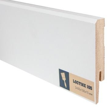Плинтус Arbiton Loctike 105, МР1001, белый, 2420х100х15 мм.