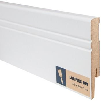 Плинтус Arbiton Loctike 109, МР1005, белый, 2420х100х15 мм.