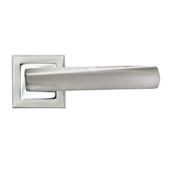 Ручка дверная RUCETTI SN/CP Белый никель/хром, RAP 11-S