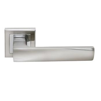 Ручка дверная RUCETTI SN/CP Белый никель/хром, RAP 14-S