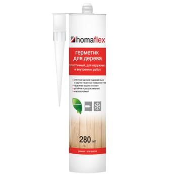 Герметик Homaflex Эластичный, 0,4 кг/ 280 мл, белый
