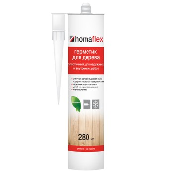 Герметик Homaflex Эластичный, 0,4 кг/ 280 мл, Пихта
