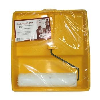Валик меховой 240мм + ванночка, набор д/стен