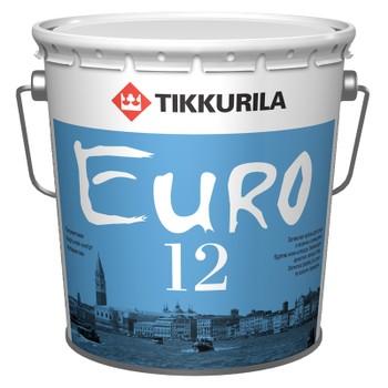 Краска Тиккурила Евро 12 латексная п/мат./база А/, 2,7л