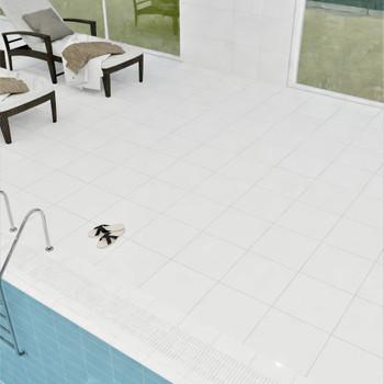 Плитка для пола 400х400мм Моноколор бел 01, Unitile