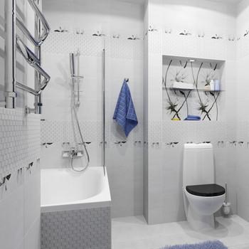 Плитка керамическая Unitile Картье 250х400 мм серый верх