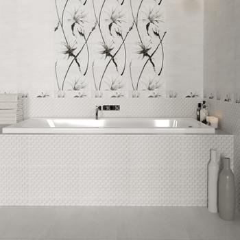 Плитка керамическая Unitile Картье 250х400 мм серый низ