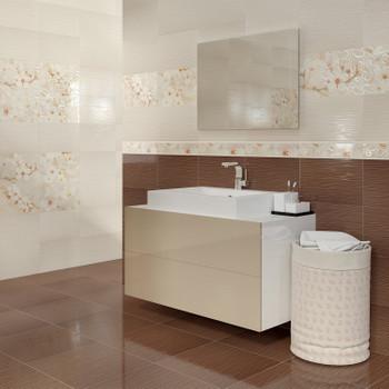 Плитка керамическая Unitile Сакура 250х400 мм коричневый верх