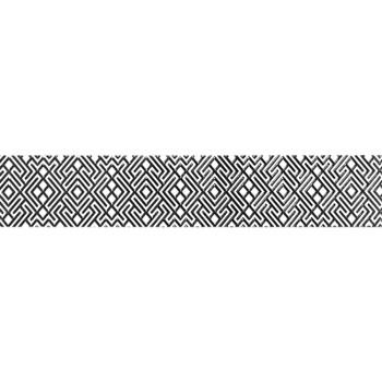 Бордюр 400х75мм Камелия черн 01, Unitile
