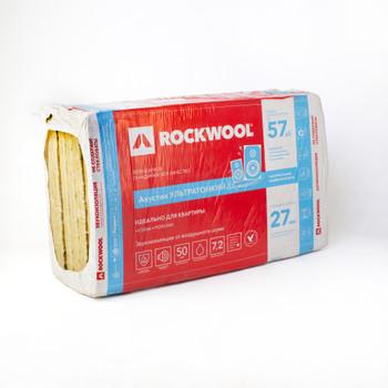Утеплитель ROCKWOOL Акустик Ультратонкий 1000х600х27 мм 12 штук в упаковке