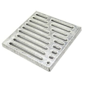 Решетка водоприемная Standartpark Basic РВ-28.28 штампованная стальная оцин