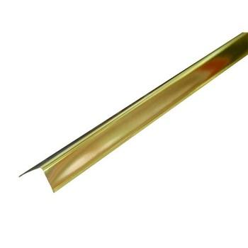 Профиль угловой алюминиевый Албес 19х24 мм золото L=3 м
