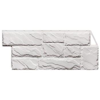 Панель фасадная FineBer Камень крупный Мелованный белый 1080х452мм
