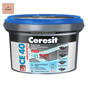 Затирка Ceresit CE 40 aquastatic розовая, 2 кг