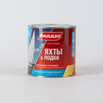 Лак яхтный алкидно-уретановый PARADE L20, п/мат, 0,75л