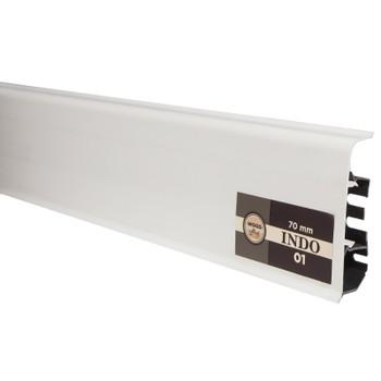 Плинтус Arbiton Indo 01, Белый, 2500х70х26 мм
