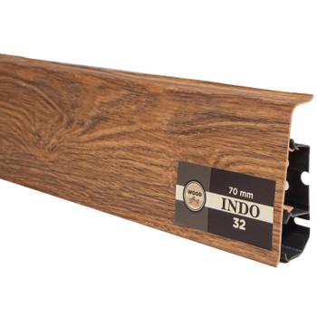 Плинтус Arbiton Indo 32, Дуб Дымчатый 2500х70х26 мм