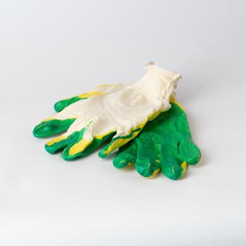 Перчатки х/б с двойной обливной ладонью