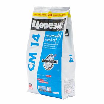 Клей для плитки (С1 Т) Ceresit CM14, 5 кг