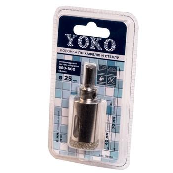 Коронка алмазная по кафелю и стеклу с центрирующим сверлом ø 25 мм Yoko