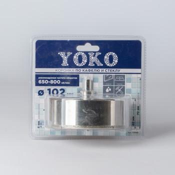 Коронка алмазная по кафелю и стеклу с центрирующим сверлом ø 102 мм Yoko