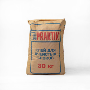 Клей для ячеистого бетона Praktik, 30 кг