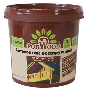Антисептик для дерева лессирующий на льняном масле Forwood Тик, 3кг