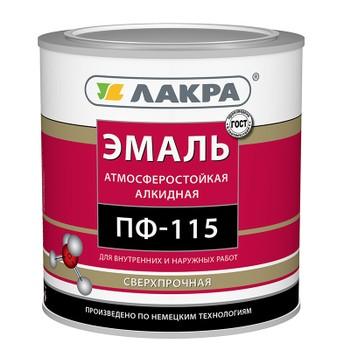 Эмаль ПФ-115 вишневая гл. (2,8кг)(Лакра)
