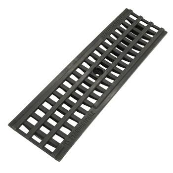 Решетка водоприемная ячеистая пластиковая PolyMax Basic 500x136x18 мм, 20801