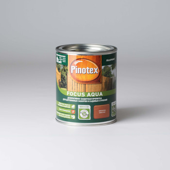 Декоративно-защитная пропитка д/пиленой древесины Pinotex Focus Золотая осень, 0,75л