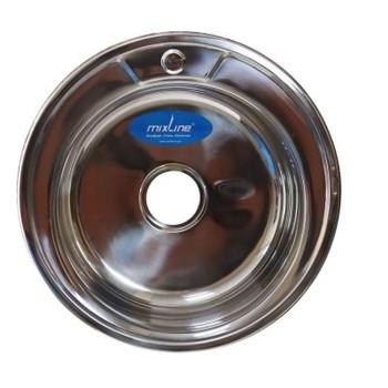 Мойка круг d 51 (0,6) вып 3 1/2 MIXLINE (глуб чаши 17см) с сифоном