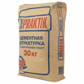 Штукатурка Praktik цементная для внутр. работ, 30 кг