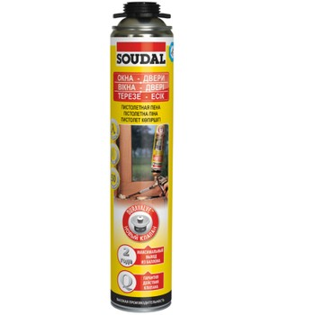 Пена монтажная Soudal 50 Желтая профессиональная, 750 мл
