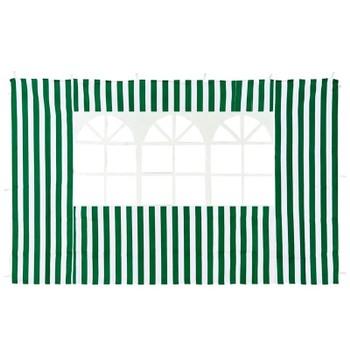 Стенка с окном для садового тента 4110 зеленая GreenGlade