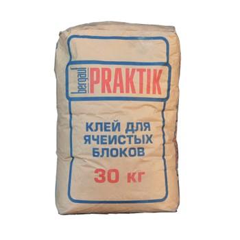 Кладочная смесь Praktik для блоков из ячеистого бетона морозостойкая (- 10С), 30кг