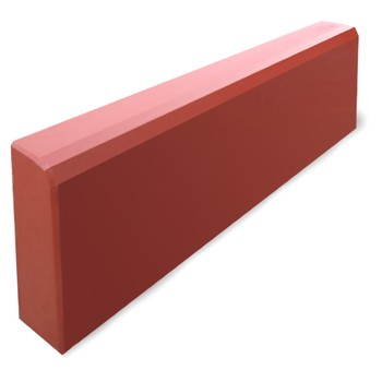 Бордюр тротуарный, 500х210х40мм красный