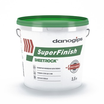 Шпатлевка Sheetrock Super Finish, 3,5 л зеленая крышка