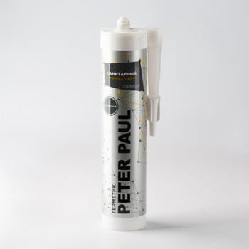 Герметик силиконовый Peter Paul санитарный (бесцветный), 300 мл