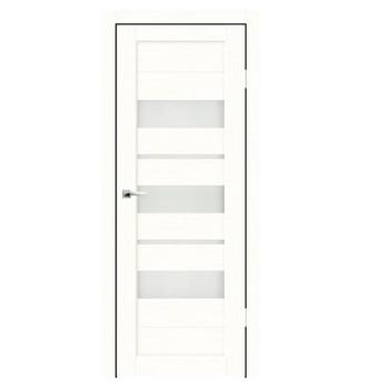 Дверное полотно Синержи Дельта, Белый ясень, ПДО 800Х2000ММ