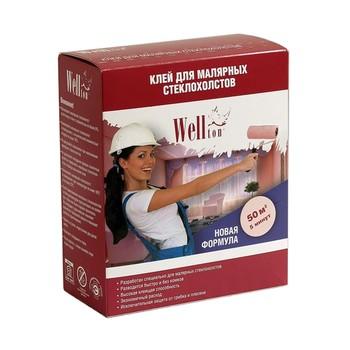 """Сухой клей """"Wellton"""" для малярных стеклохолстов 300 г."""