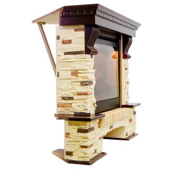 Портал каменный под очаг Dioramic 28 LED FX / Jupiter FX Royal Flame Pierre Luxe угловой сланец
