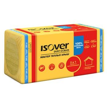 Утеплитель ISOVER Мастер теплых крыш 1000х600х100 мм 4 штуки в упаковке