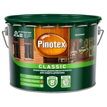 Декоративно-защитное средство для дерева Pinotex Classic б/цвет., 9л