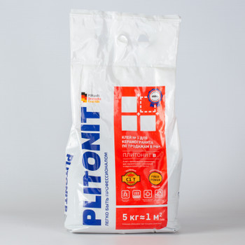 Клей для плитки (С1 Т) Плитонит В, 5кг