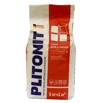 Клей для плитки Плитонит А, 5кг