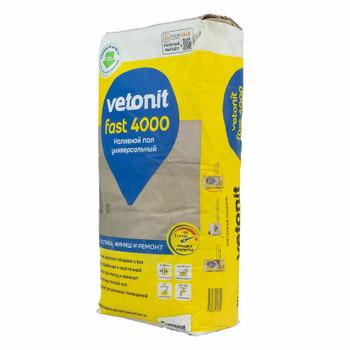 Наливной пол Weber.Vetonit Fast 4000, 20 кг