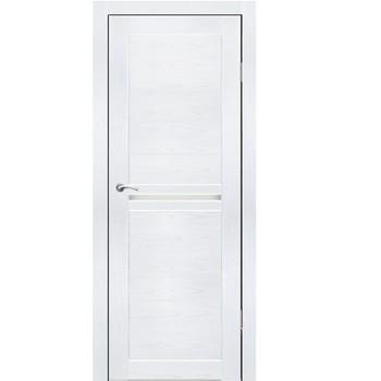 Полотно дверное остекленное Лацио СИНЕРЖИ ясень белый ПВХ, ПДО 600х2000мм