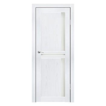 Полотно дверное остекленное Эль Порте СИНЕРЖИ ясень белый ПВХ, ПДО 700х2000мм